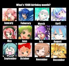 I made this... find out which Vocaloid you are by month! Piko isn't really March, but nico nico he is