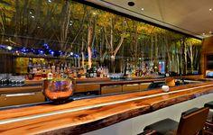 Bar at American Fish, Las Vegas. Love the woodland styling.
