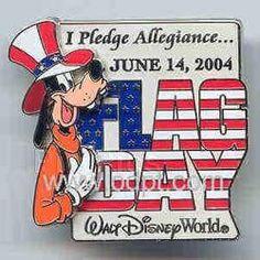 Disney WDW Goofy 3D Flag Day Limited Edition Pin
