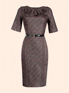Pin by Jenny Bajan on churchy in 2019 Vintage Dresses, Nice Dresses, Casual Dresses, Dresses For Work, African Fashion Dresses, African Dress, Vestidos Sport, Formal Dresses Online, Designs For Dresses