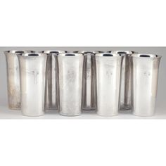 Set of Eight Sterling Silver Tumblers by Randahl: Leland Little Auctions