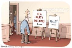 Tea Party Cartoons: Tea Party vs. Reality