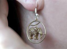 Elephant Earring 3d printed Figurines Earrings