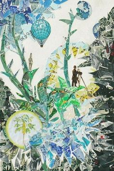 Linda Feldman creates collages from used postage stamps - National Science & Nature   Examiner.com