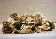 Japan, (Netsuke) Okimono, the game of 'go', 19th-20th C. by monopthalmos, via Flickr
