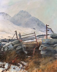 Tryfan - Hole in the wall, an original watercolour painting | Paintings by Welsh artist Rob Piercy
