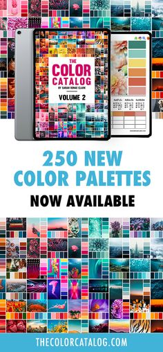 Never be stuck for colors again! These 250 new color schemes from The Color Catalog Volume 2 will give you endless inspiration for any creative project. Each palette includes the RGB, CMYK and hex codes for web designers or graphic designers, plus space to compare your pencils or paints to find the perfect match.   Find out more at sarahrenaeclark.com/color-palettes  #colorpalettes #colorschemes #colorinspiration