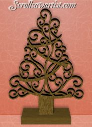 Scroll Saw Patterns :: Holidays :: Christmas :: Trees :: Curly tree -