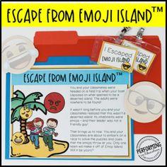 Escape from Emoji Island™ Grade Math Escape Room - Gre Math For Kids, Fun Math, Math Test Games, 4th Grade Math Test, Math Class, Real Life Math, End Of Year, Test Prep, Escape Room
