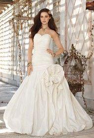 Wedding Dresses - Strapless Shirred Taffeta Wedding Dress from Camille La Vie and Group USA