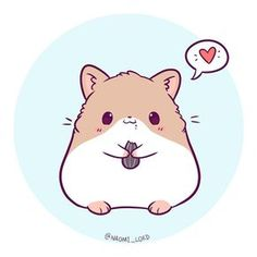 """Polubienia: 4,188, komentarze: 156 – Naomi Lord (@naomi_lord) na Instagramie: """"Kawaii Hamster! :3 Comment below your favourite animal and I might draw it! (unless I've already…"""""""