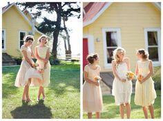 such a cute, short wedding dress!