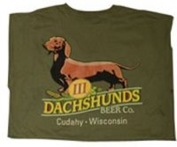 Ankle Biter Ale/III Dachshunds Beer T-shirt