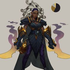 By [Do not remove artist credit] Female Character Design, Character Creation, Character Concept, Character Art, Concept Art, Character Ideas, Black Anime Characters, Fantasy Characters, Female Characters
