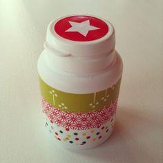 Eine Kaugummi Dose zum wieder verwenden ,weil sie so hübsch ist