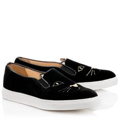40.5 PAAAAALEEESE!  $495  COOL CATS|SLIP-ON SNEAKER|Charlotte Olympia SHOES
