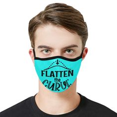 Covid - Flatten the Curve - Bahama blue Mouth Mask in One Piece (2 Filters Included) (Model M02)   ID: D5018012 Funny Mouth, Parody Videos, Mouth Mask Fashion, Ideal Image, Spanish Fashion, Mask Online, Bahama Blue, Office Humor, Uk Fashion