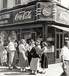 drug store, 1950s.