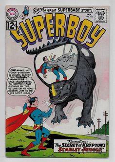 Superboy #102 VG- 3.5 DC 1963 Swan Klein cvr Jerry Siegel Al Plastino Superbaby