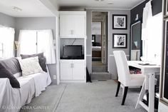 I am loving these travel trailers that look like your home interior.