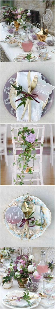 Tablescape ● Lavender Garden