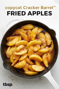 Since it's not socially acceptable to visit Cracker Barrel™ just for their fried apples, we made this copycat version so you can have them whenever you want—like, every day with every meal. No judgments here. Fruit Recipes, Fall Recipes, New Recipes, Dinner Recipes, Cooking Recipes, Favorite Recipes, Apple Recipes Easy, Cooking Tips, Cracker Barrel Apples Recipe