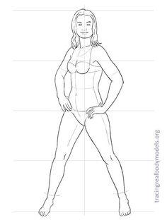 realmodels-templates-0059 Fashion Figure Templates, Fashion Design Template, Manga Drawing Tutorials, Drawing Templates, Human Figure Drawing, Figure Sketching, Croquis Fashion, Fashion Sketches, Marilyn Monroe Painting