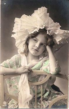 Edwardian Era Girl with Lace Cap