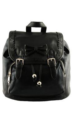 We love this luscious wet look backpack and so will you! The Liquido backpack features smooth leatherette front flap with laser-cut detailing and leatherette bow. Magnetic clasp and drawstring closure. Wet look outer with front zip up pouch pocket and lined inner with 3 compartment pockets. Removable shoulder straps. Team with a cute jumpsuit, wide […]
