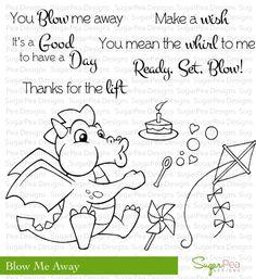 Store---Blow-Me-Away -- Sugar Pea Designs -- cute dragon stamp!