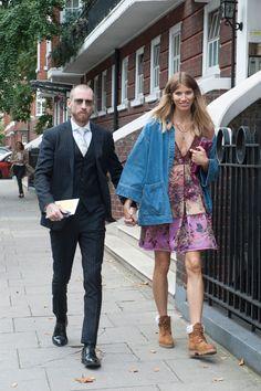 #JustinOshea & #VeronikaHeilbrunner on point styling. London
