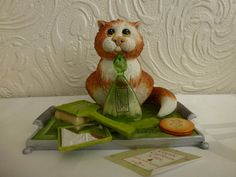 Border Fine Arts - Comic & Curious Cats series 'Perfume Bottle' boxed & tagged   eBay