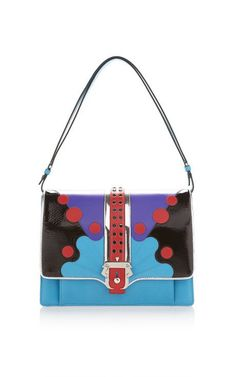 Blue Faye Top Handle Bag by Paula Cademartori for Preorder on Moda Operandi