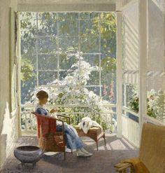 fleurdulys: At the End of the Porch - John Sharman  1918