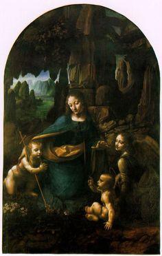 Leonardo da Vinci | La Vergine delle rocce | 1493-1508 | olio su tavola | National Gallery di Londra |