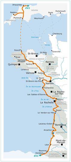 La Vélodyssée - the EuroVelo 1 Atlantic Coast Cycle Route. http://www.freewheelingfrance.com/where-to-go/cycling-the-atlantic-coast.html