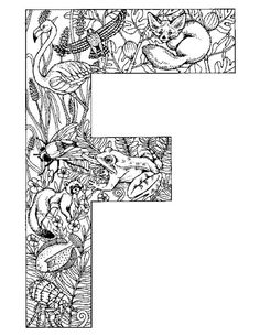 Alphabet Animal Coloring Pages F In This Page You Can Find Free Printable