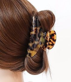 if you thick hair,you can use is as half claw. if you have thin hair,you can use it as full claw. Length of clip : cm. I really love the hair pieces! Bun Pins, Cellulose Acetate, Creative Hairstyles, Clamp, Hair Pieces, Hair Bows, Hair Clips, Marble, Hair Beauty