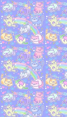 animals, art, and candy afbeelding Hello Kitty Iphone Wallpaper, Iphone Lockscreen Wallpaper, Wallpaper Wa, Kawaii Wallpaper, Pastel Wallpaper, Wallpaper Backgrounds, Gatos Wallpapers, Hd Cute Wallpapers, Vintage Flowers Wallpaper