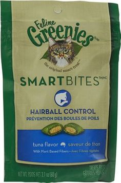 Greenies Feline SmartBitesTM Hairball Control Tuna -- 2.1 oz(packof2) -- More info could be found at the image url. (This is an affiliate link and I receive a commission for the sales)