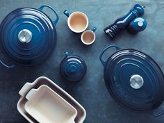 Introducing Ink, the new navy blue from Le Creuset. Sophisticated and rich, Ink is a deep blue that will bring effortless, understated style to your kitchen. Blue Kitchen Accessories, Le Creuset Cookware, Navy Kitchen, Kitchen Items, Kitchen Stuff, Kitchen Utensils, Kitchen Gadgets, Tea Gifts, Kitchen Equipment