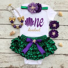 Mermaid First Birthday/First Birthday outfit/Under the sea theme/Mermaid outfit /Little Mermaid