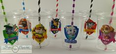 Paw Patrol Birthday Party Cups Favors 10pc by FestiveCupboard