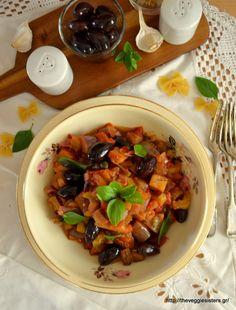 Λαχταριστές συνταγές με μελιτζάνες Kung Pao Chicken, Veggies, Ethnic Recipes, Sisters, Food, Vegetable Recipes, Vegetables, Essen, Meals