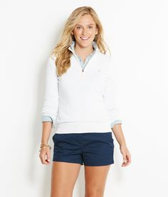 The mint color ! Shop Sweaters: Tipped 1/4-Zip Sweater for Women | Vineyard Vines