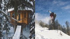 Treehouses snowboards and Ziplines - North Idaho Winter Vibes