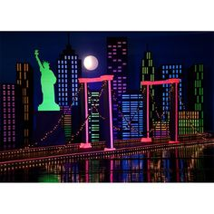 Crazy Town Complete Theme-New York, NY Big City Lights Prom 2016, Statue of LIberty, NY City Skyline Prom Backdrop