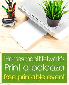 iHomeschool Network's Print-a-Palooza: Free Homeschool Printables