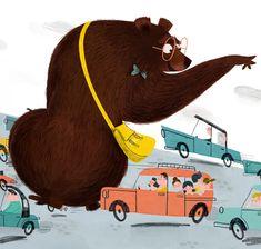 Traffic stopping bear!