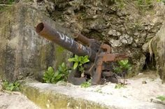 WWII - The Pacific: 20cm Jap gun Tamuning-Tumon-Harmon - Guam Guam